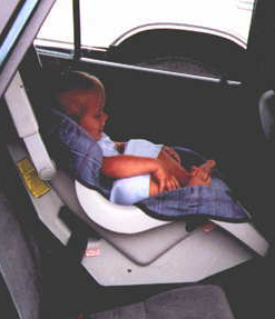 Seat In The Reclining Position And Forward Facing